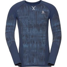 Odlo Blackcomb Haut Manches Longues Col Ras-Du-Cou Homme, estate blue